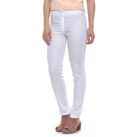 Nomadic Traders Slim Linen Ankle Pants (For Women) in White - Closeouts