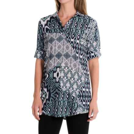 Nomadic Traders Tab Tunic Shirt - Elbow Sleeve (For Women) in Bluegrass - Closeouts