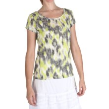 Nomadic Traders Tara Burnout T-Shirt - Short Sleeve (For Women) in Kiwi Ikat - Closeouts