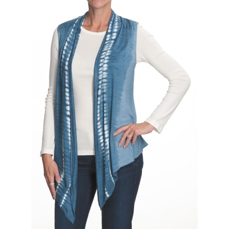 Nomadic Traders Topsey Turvy Vest - Tie-Dye Knit (For Women) in Chambray