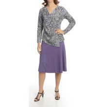Nomadic Traders Transition Asymmetric Shirt - Jersey Knit, Long Sleeve (For Women) in Purple Rain - Closeouts
