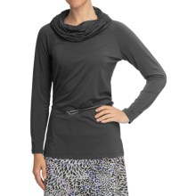 Nomadic Traders Transition Jersey Tunic Shirt - Ruched Cowl, Long Sleeve (For Women) in Charcoal - Closeouts