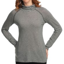 Nomadic Traders Transition Turtleneck - Jersey Knit, Long Raglan Sleeve (For Women) in Charcoal Stripe - Closeouts
