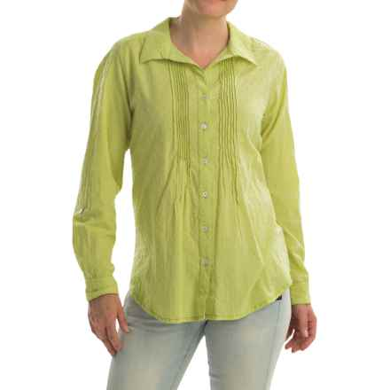 Nomadic Traders Tuck Away Blouse - Long Sleeve (For Women) in Citron - Closeouts