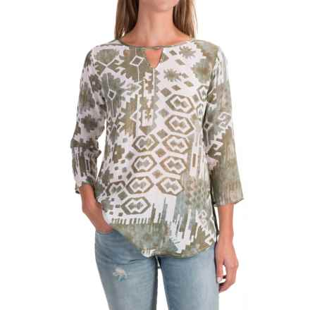 Nomadic Traders Wanderlust Shirt - 3/4 Sleeve (For Women) in Taos - Closeouts