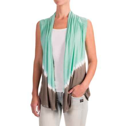 Nomadic Traders Wanderlust Tie-Dye Vest - Rayon (For Women) in Aqua - Closeouts