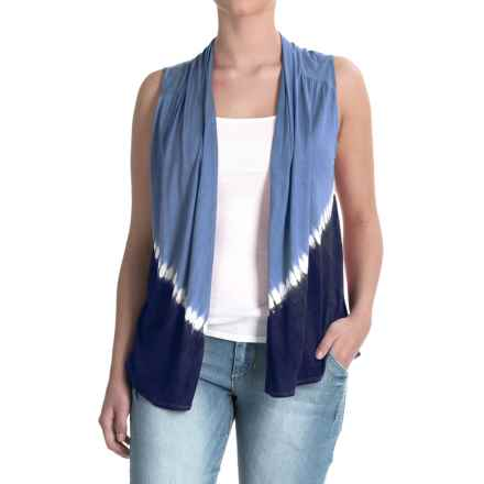 Nomadic Traders Wanderlust Tie-Dye Vest - Rayon (For Women) in Denim - Closeouts