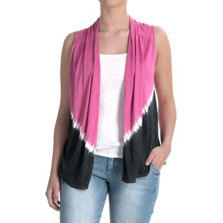 Nomadic Traders Wanderlust Tie-Dye Vest - Rayon (For Women) in Fuchsia
