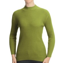 Nomadic Traders Wide Rib Poorboy Sweater (For Women) in Pistachio - Closeouts