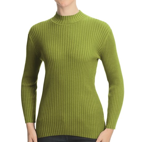Nomadic Traders Wide Rib Poorboy Sweater (For Women) in Pistachio