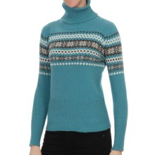 Nomadic Traders Winter Solstice Isla Sweater - Turtleneck (For Women) in Azure - Closeouts