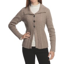 Nomadic Traders Winter Solstice Montreal Cardigan Sweater (For Women) in Mushroom - Closeouts