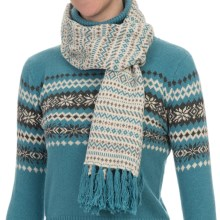 Nomadic Traders Winter Solstice Scarf (For Women) in Natural - Closeouts