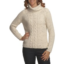 Nomadic Traders Winter Solstice Sweater - Donegal Cable (For Women) in Natural - Closeouts