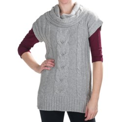 Nomadic Traders Winter Solstice Sweater Vest - Short Sleeve (For Women) in Winter White