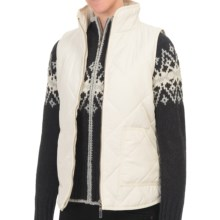 Nomadic Traders Winter Solstice Telluride Vest (For Women) in Winter White - Closeouts