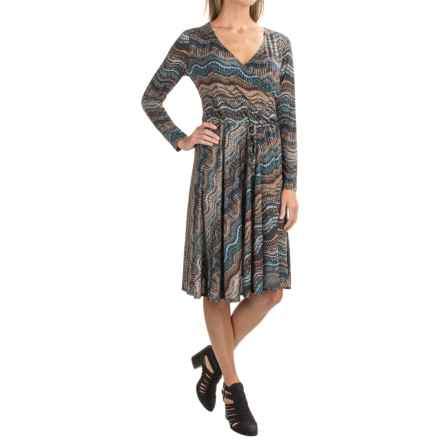 Nomadic Traders Wrap Dress - Long Sleeve (For Women) in Jasper Rhythm - Closeouts