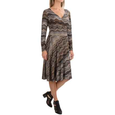 Nomadic Traders Wrap Dress - Long Sleeve (For Women) in Tobac Rhythm - Closeouts