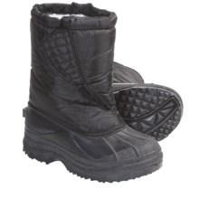Non-Quilted Lined Snow Boots (For Kids and Youth) in Black - Closeouts