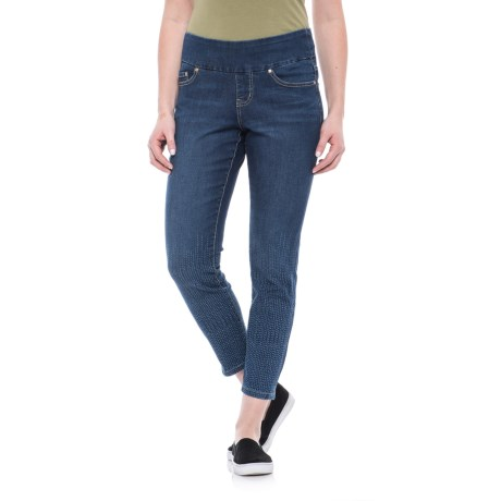 Nora Laser-Printed Ankle Jeans (For Women)