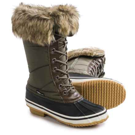 Nord Trail Emma Snow Boots - Insulated (For Women) in Khaki - Closeouts