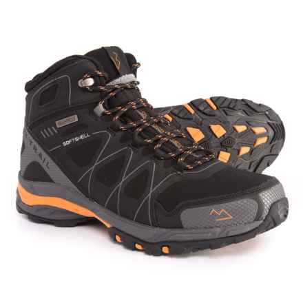 Nord Trail Mt. Hood Hi Hiking Boots - Waterproof (For Men) in Black/Orange - Closeouts
