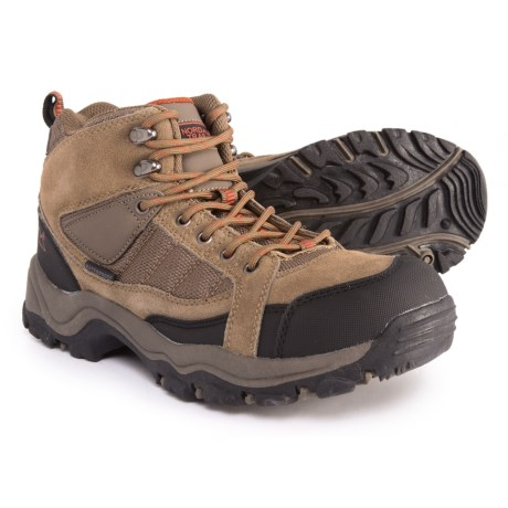 Nord Trail Mt. Hunter Hi II Hiking Boots - Waterproof (For Men) in Taupe/Orange