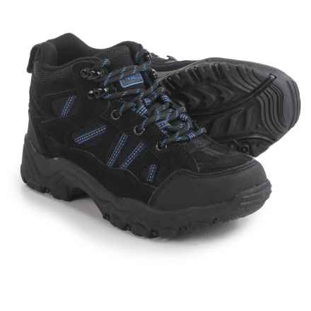 Nord Trail Mt. Hunter High Hiking Boots (For Boys) in Black/Blue - Closeouts