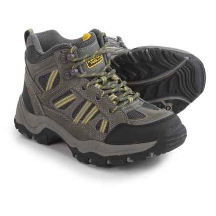 Nord Trail Mt. Hunter High Hiking Boots (For Boys) in Charcoal/Yellow - Closeouts