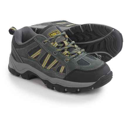 Nord Trail Mt. Hunter Hiking Shoes (For Boys) in Charcoal/Yellow - Closeouts