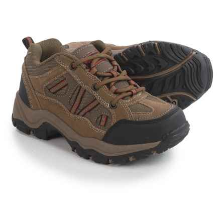 Nord Trail Mt. Hunter Hiking Shoes (For Boys) in Taupe/Orange - Closeouts