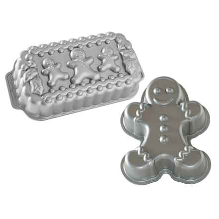 Nordic Ware Gingerbread Man Loaf and Cake Pan Set in See Photo - Overstock