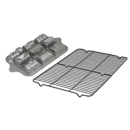 Nordic Ware Train Cake Pan and Cooling Rack Set in See Photo - Overstock