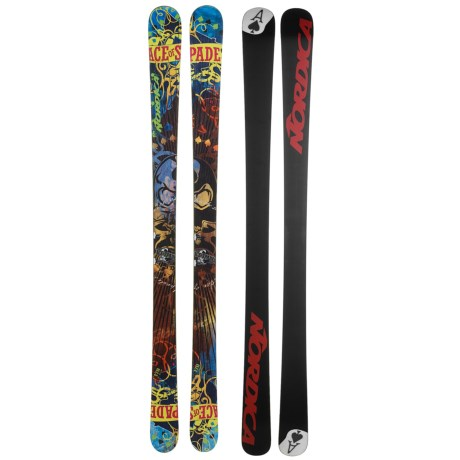 Nordica Ace of Spades TI Alpine Skis - Park and Pipe in Brown/Turquoise