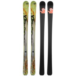 Nordica Burner Alpine Skis - All-Mountain Skis in Green/Orange