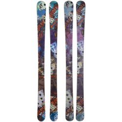 Nordica Dead Money Alpine Skis - Twin Tip, Park and Pipe in Turquoise/Pink