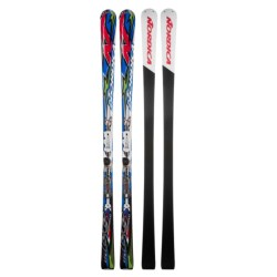 Nordica Dobermann Pro GS Skis with XBI CT Binding Plate in Blue