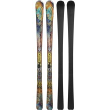 Nordica Fate Alpine Skis - XBI Bindings (For Women) in Yellow/Turquoise - Closeouts