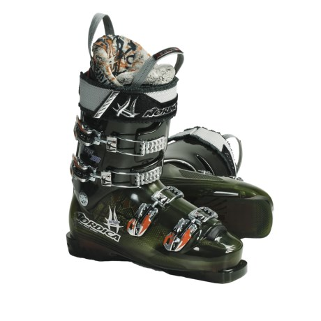 Nordica HR Pro 125 Ski Boots (For Men and Women) in Green