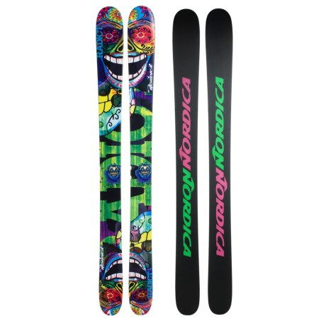 Nordica Radict Alpine Skis in Turquoise/Green
