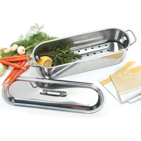 Norpro Fish Poacher - Stainless Steel in Stainless Steel