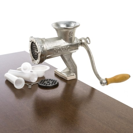 Norpro Heavy-Duty Tinned Cast Iron Meat Grinder in Stainless Steel