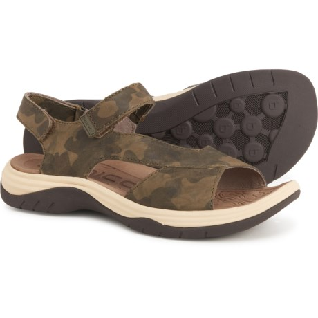 Norrie Sandals - Leather (For Women) - OLIVE (6 ) -  Bionica