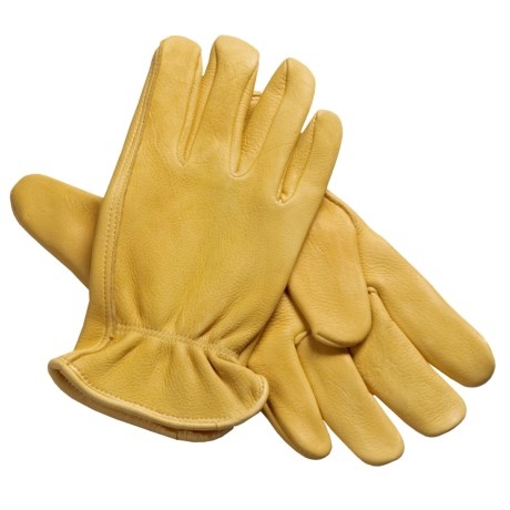 North American Trading Deerskin Work Gloves (For Men) in Tan