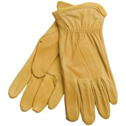 North American Trading Deerskin Work Gloves - Unlined (For Women) in Tan