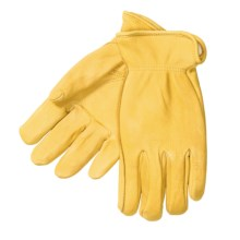 North American Trading Elkskin Leather Work Gloves - Thinsulate® (For Men) in Tan - Closeouts