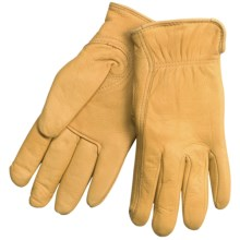 North American Trading Full-Grain Deerskin Gloves - Insulated (For Women) in Tan - Closeouts