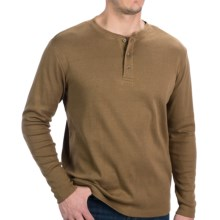 North Creek Traders Henley Shirt - Long Sleeve (For Men) in Rust - Closeouts