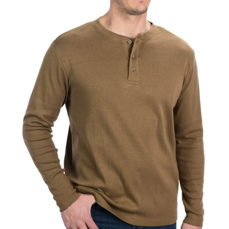 North Creek Traders Henley Shirt - Long Sleeve (For Men) in Rust