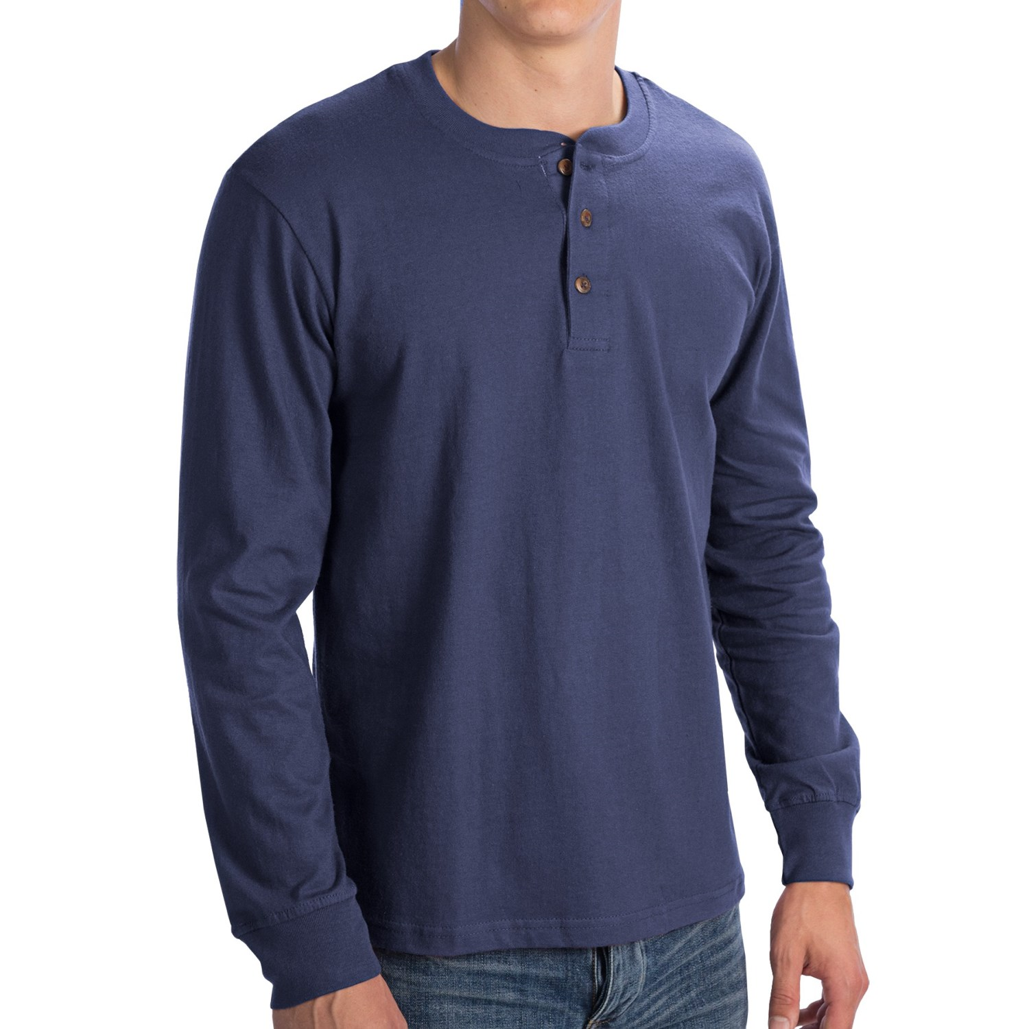 North point henley shirt for men save 71 for Long sleeve henley shirts for men